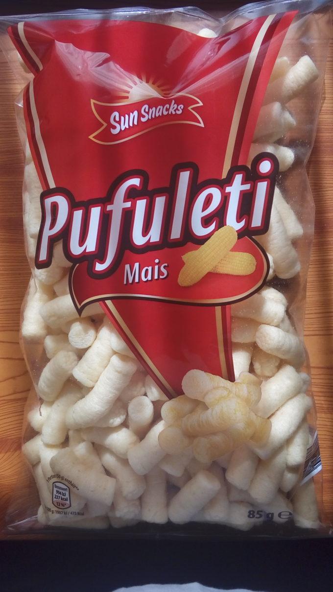 ドイツお菓子シリーズ Sun Snacks Pufuleti Mais