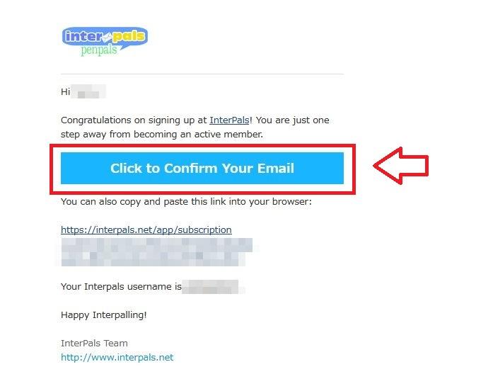 Interpals登録の仕方