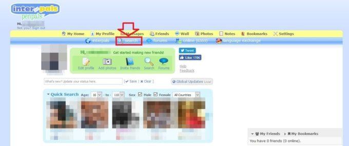 Interpalsの検索方法