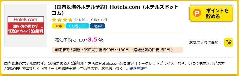ポイントサイト経由で温泉やホテルにの宿泊料金を安くする方法